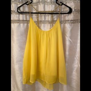 Women's L Gold Chained Tank Top